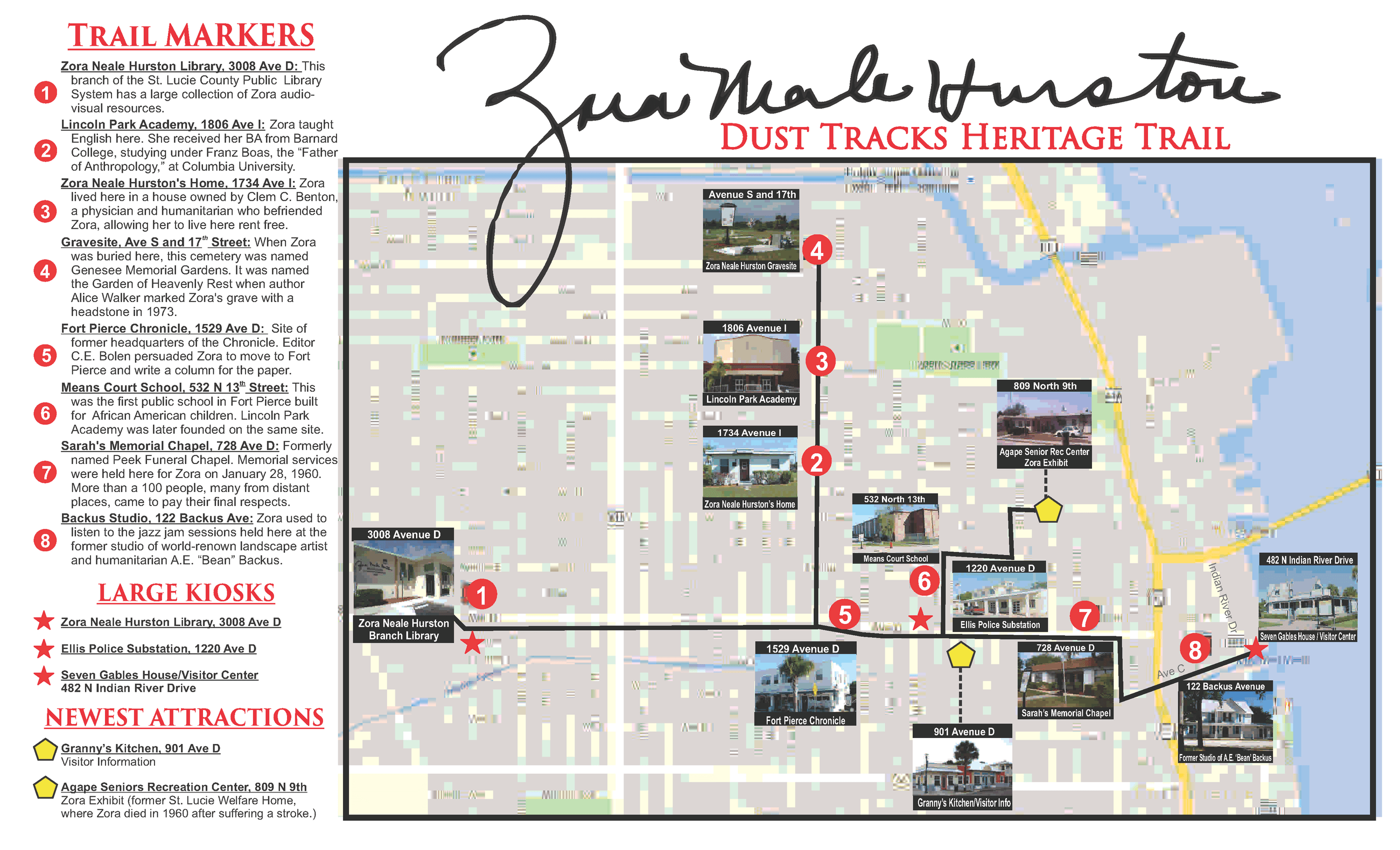 Map of Dust Tracks Heritage Trail