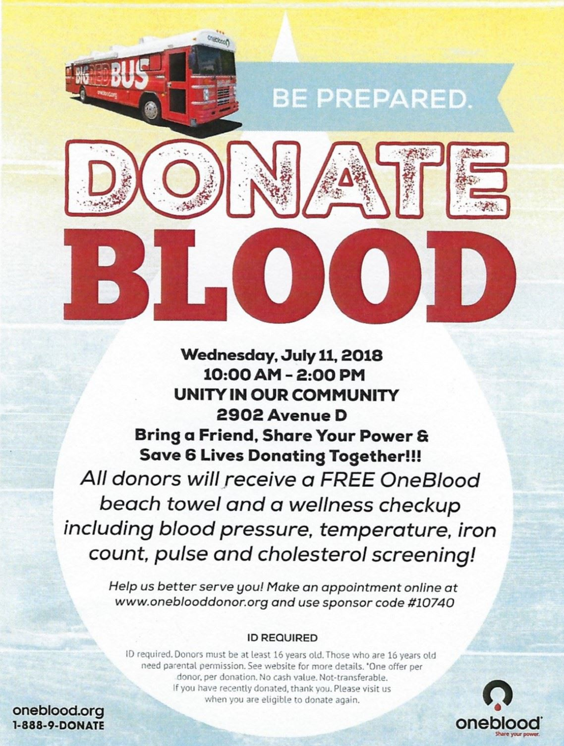 DonateBlood unity in Community